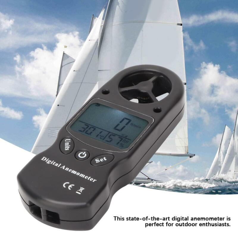 TL-300 Mini 3-in-1 Digital Anemometer LED Wind Speed Hygrometer Thermometer