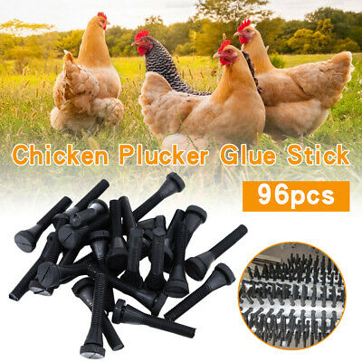 96pcs Chicken Plucker Picker Poultry Fingers Duck Goose Hen Plucking Sticks