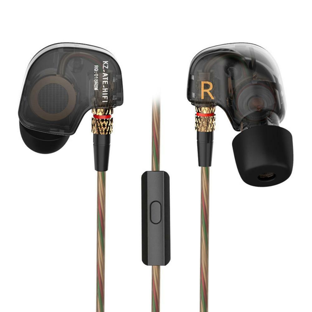 KZ ATE 3.5mm Earphones HIFI Stereo In-Ear Sport Earbuds Head