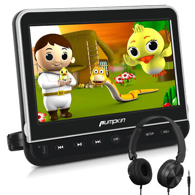 """10.1"""" Full HD Headrest DVD Player for Car & Home Use HDMI USB SD AV OUT/IN 1080p"""