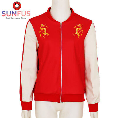 Halloween Ralph Breaks 2 Hoodie Mulan Jacket Red Cosplay Costume Sportswear (Halloween Breaks)