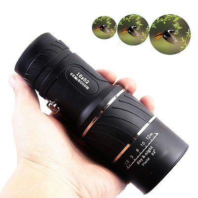 Day & Night Vision 16x52 HD Optical Monocular Hunting Camping Hiking Telescope