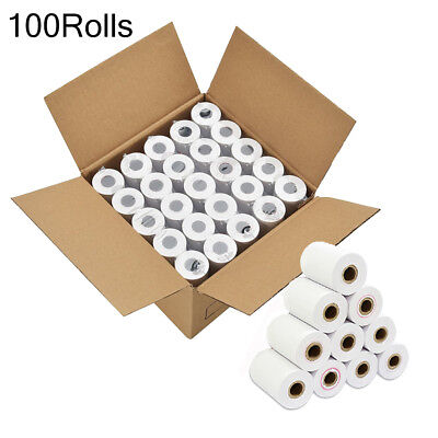 100 Rolls Thermal Paper 2 14 X 85 Credit Card Cash Register Pos Receipt Paper