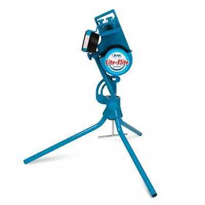 Jugs Lite Flite Portable Pitching Machine, Baseball Softball Blue. M6000