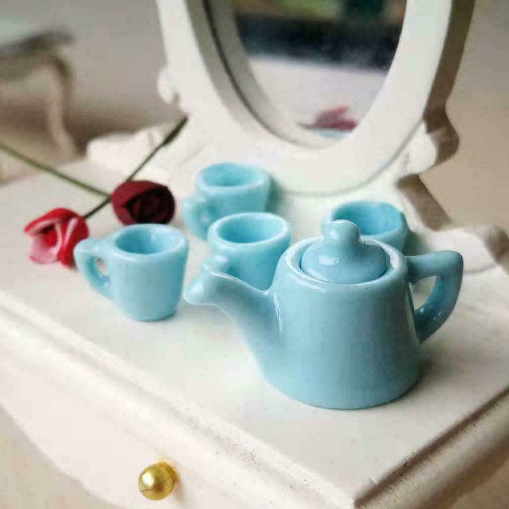 1 12 Puppenhaus Dollhouse Miniatur Waage Blau Rosa Badezimmer De Hot Neue Mobel