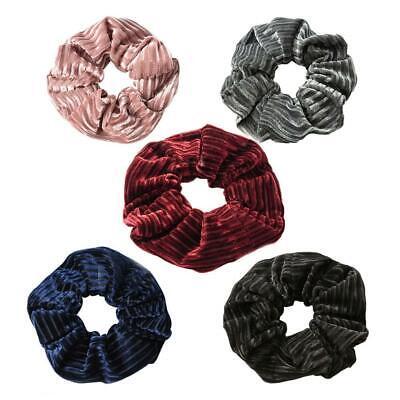 Samt-scrunchie (2×Frauen elastische Haarbänder Streifen samt Scrunchie Haar Halter wickeln Ring)