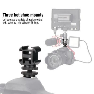 Ulanzi Triple Head Hot Shoe Mount Adapter Bracket Flash Holder Converter Camera