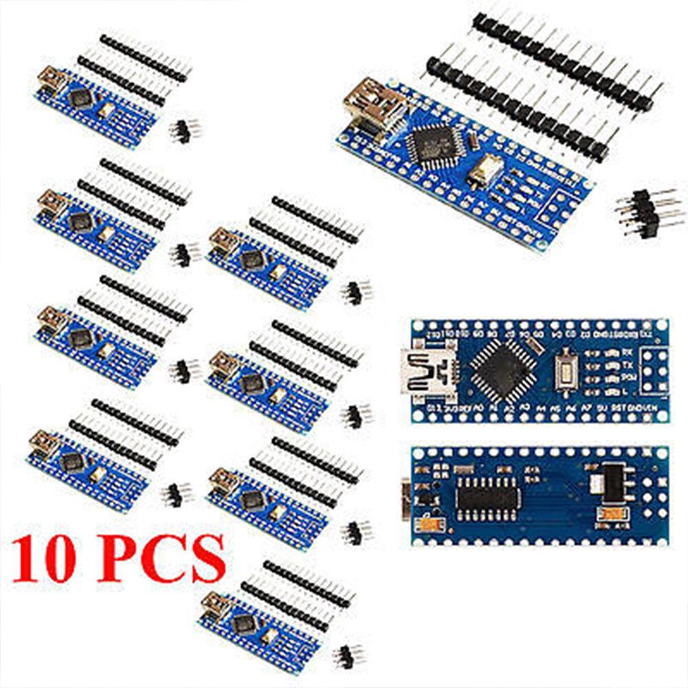 10 Pcs Mini Usb Nano V30 Atmega328 Ch340g 5v 16m For Arduino Free Atmega 328 With Shipping Hm