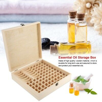 High Quality Wooden Material 87 Slots Wooden Large Essential Oil Storage Box - High Quality Aromatherapy