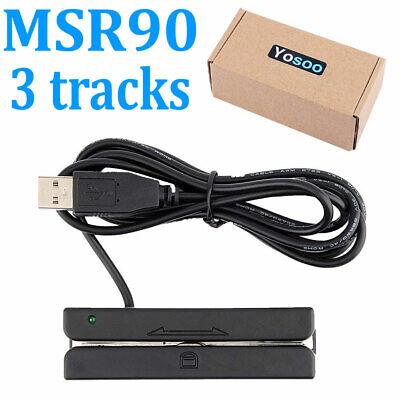 Usb Mini Hi-co Magnetic Stripe Msr 3 Tk Tracks Mag Swiper Credit Card Reader Usa