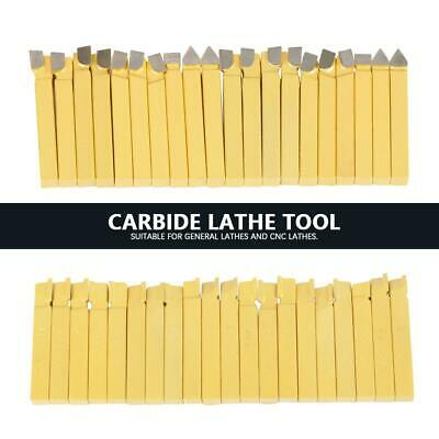 20pc 38 Carbide Tip Tipped Cutter Tool Bit Cutting Set For Metal Lathe Tooling