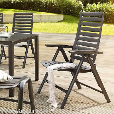 Kettler WAVE Gartenstuhl in anthrazit Aluminium Kunststoff Klappsessel Sessel