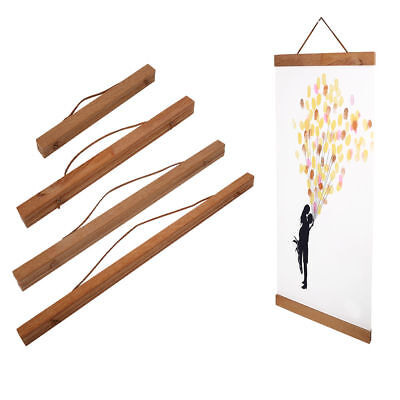 Magnetic Wooden Photo Picture Frame DIY Poster Scroll Print Artwork Wall Hanger  - Wooden Poster Frames