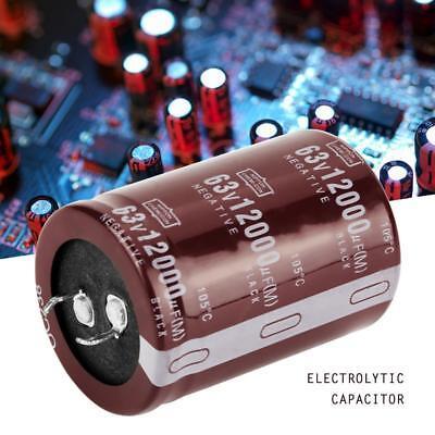 2pcs Audio 12000uf 63v Filter Hifi Electrolytic Capacitor 3550mm New