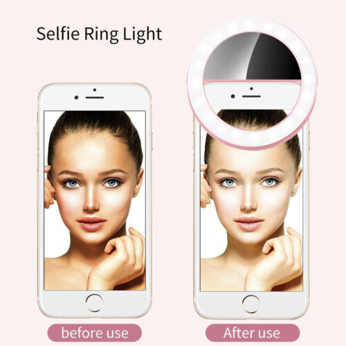 Portable Selfie LED Ring Fill Light Camera Photography Smart Phone Rechargeable#