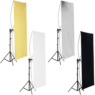 "Neewer Studio 40x55"" Flat Panel Light Reflector Gold/Silver and Black/White"