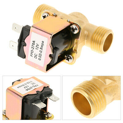 Hot 12 Dc 12v Normally Closed Brass Electric Solenoid Valve For Water Control