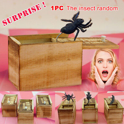 Funny Joke Wooden Prank Scare Box Home Office Practical Gag Toy Random - Halloween Scare Pranks