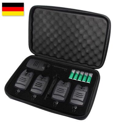 Bissanzeiger Angeln Funk Bissmelder mit LED 4+1 Set Anti-Diebstahl Lautstärke N
