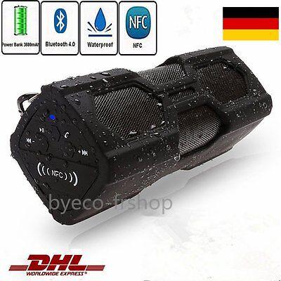 Wasserdichte Bluetooth Wireless Lautsprecher Power Bank Portable USB Musik BOX &