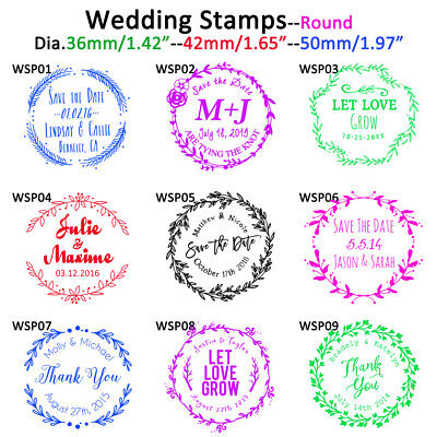 Personalized Custom Self Inking Save the Date Lover Round Address Wedding Stamp  - Custom Save The Dates