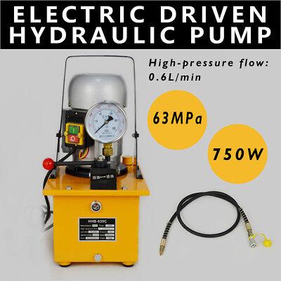 110v Electric Driven Hydraulic Pump 63 Mpa Single Acting Manual Valve Hhb-630c
