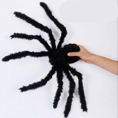 Indoor Outdoor Halloween Decoration Black Giant Spider Scary Haunted House