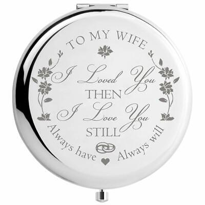 Gifts for Wife, Romantic Presents for Valentines Day, Engraved Makeup Mirror     ()