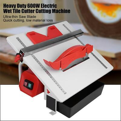 600W Electric Wet Tile Cutter Cutting Machine with Cutting Blade 110V New USA