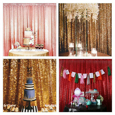 Shimmer Sequin Restaurant Curtain Wedding Photobooth Backdrop Party Photo Props
