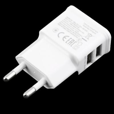 2 Port Wall (Dual USB Port Wall Home Travel Charger Power Adapter Universal 5V 2A EU Plug HS)