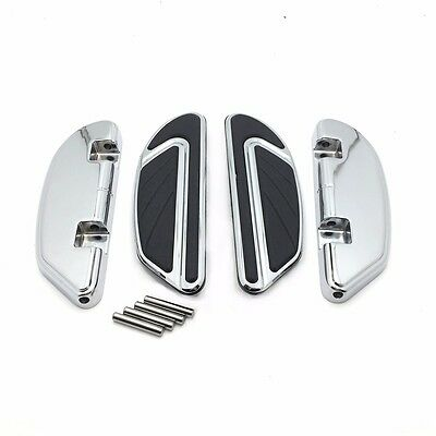 Black Airflow Passenger Floorboards Kit For Harley Dyna Softail Touring