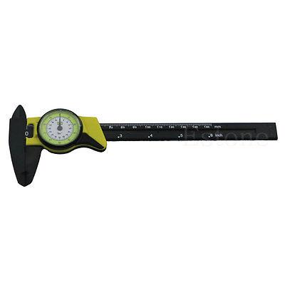 1pc Dial Caliper 6 Inch 150mm Plastic Vernier Caliper 4 Way Gauge Micrometer New