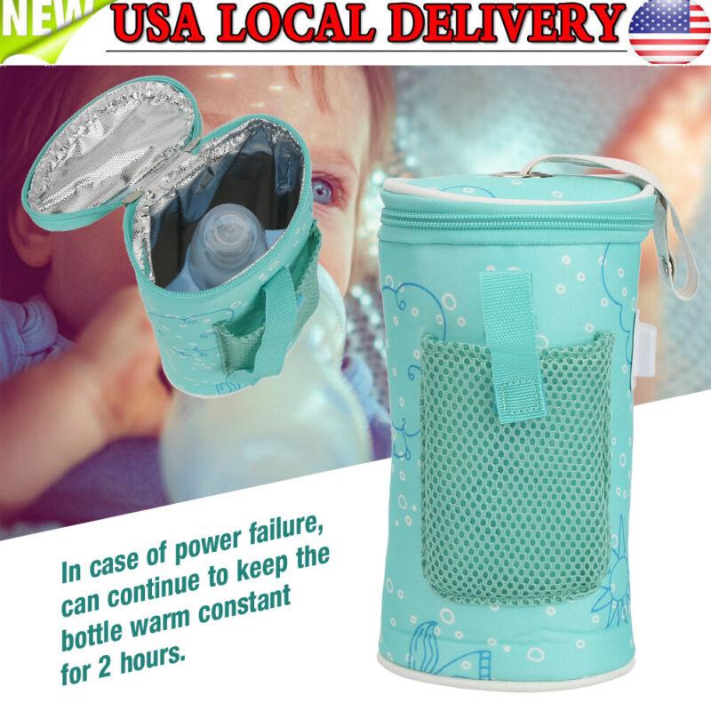Portable USB Bottle Warmer Heater Travel Baby Kid Child Water Milk Feeding Bag
