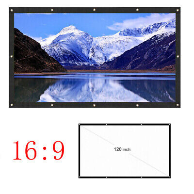 """120""""inch Indoor Outdoor Projector Screen HD 16:9 3D Movie Portable Foldable"""