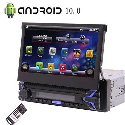 Single 1Din Android 10.0 Car Stereo GPS Navi Radio MP5 Player Bluetooth WIFI 4G