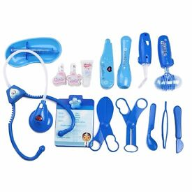 Doctor Playset Pretend Play Toys Role Play Medical Kit for Kids (Blue)