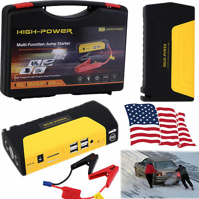 12V 68800mAh Portable Car Jump Starter Pack Booster Charger
