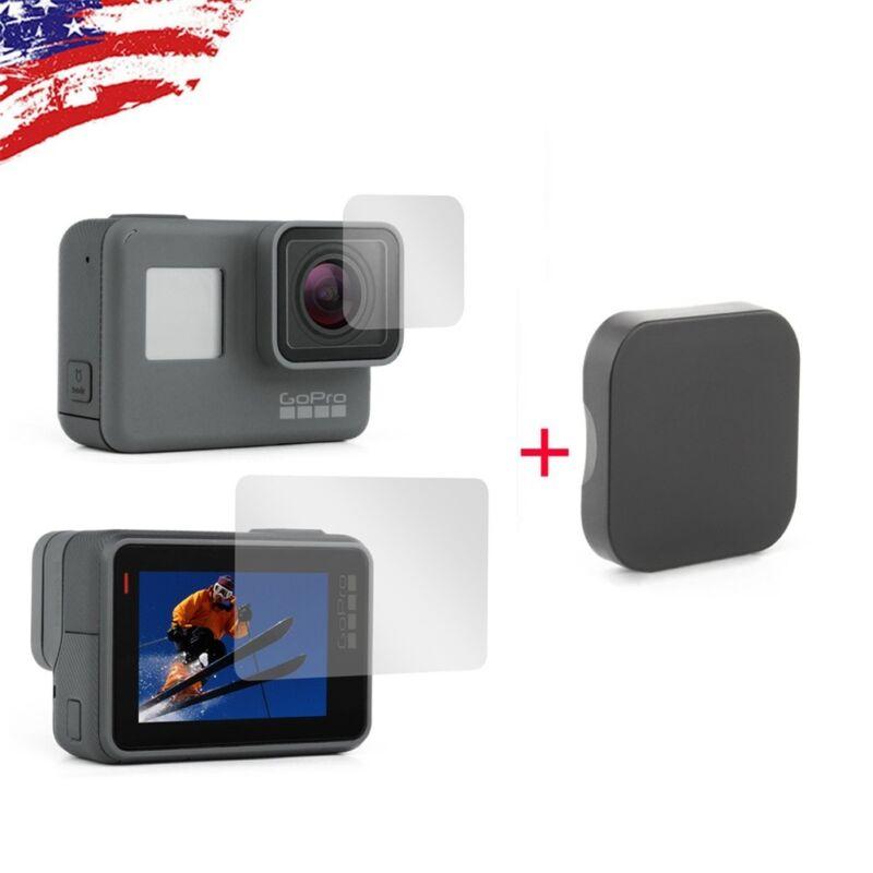 2X Lens & LCD Screen Protector Film + 1X Lens Cap Cover for GoPro HERO7 6 5 2018