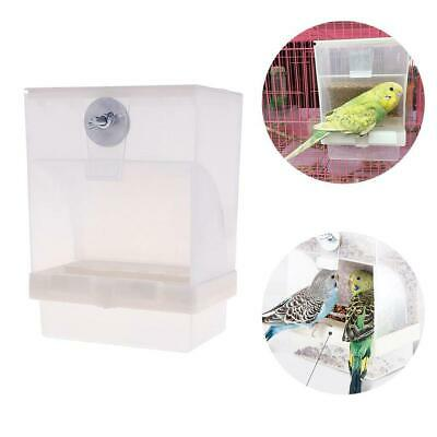 Poultry Feeder Automatic Acrylic Food Container Parrot Pigeon Splash Proof 2020