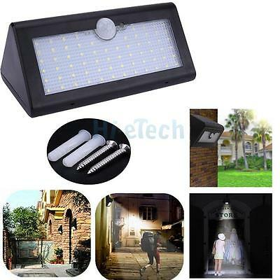 66 LED Waterproof PIR Motion Sensor Solar Power Outdoor Garden Security Lamp