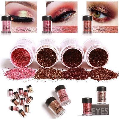 12 Colors Diamond Loose Powder Pigment Glitter Eyeshadow Eye Shadow Makeup New