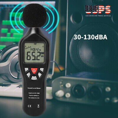 Pro Sound Level Meter Data Logger Noise Audio Tester 30-130db Usb Cable Battery