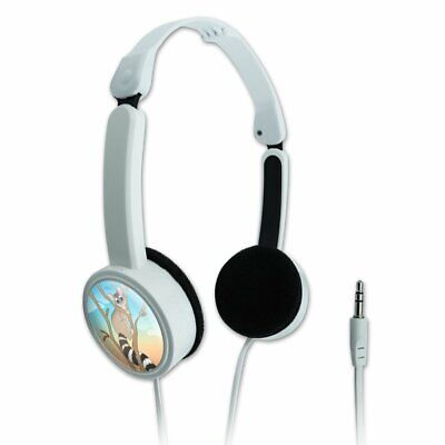 Ring-tailed Cat Novelty Travel Portable On-Ear Foldable Headphones for sale  Shipping to India
