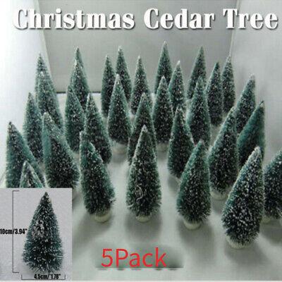 5X Christmas Tree Mini Cedar Ornaments Party Doll House Miniature Decor Table ()