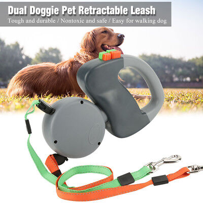 Pet Automatic Retractable Dual Traction Rope Walking Lead for Dog Cat Puppy