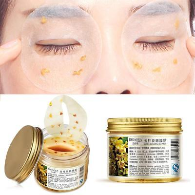 80Pcs/Bottle Gold Osmanthus Eye Mask Eyelid Patch For Anti Wrinkle Dark Circles