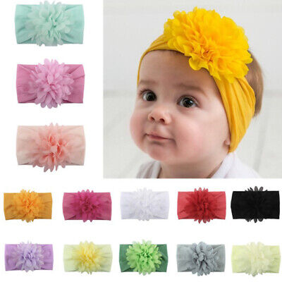 Fashion Kids Girl Baby Headband Infant Newborn Flower Bow Hair Band Accessories