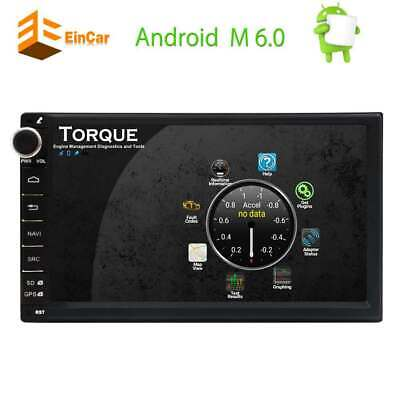 EINCAR 7 inch Android 4G WiFi Double 2DIN Car Radio Stereo GPS Navigation Mirror