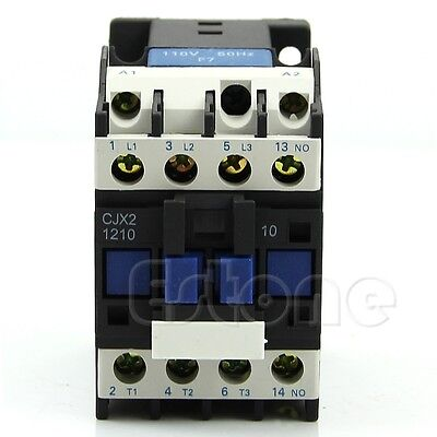 Ac Contactor Motor Starter Relay 3-phase Pole 18a Up To 14hp 110v Coil Cjx2-1210